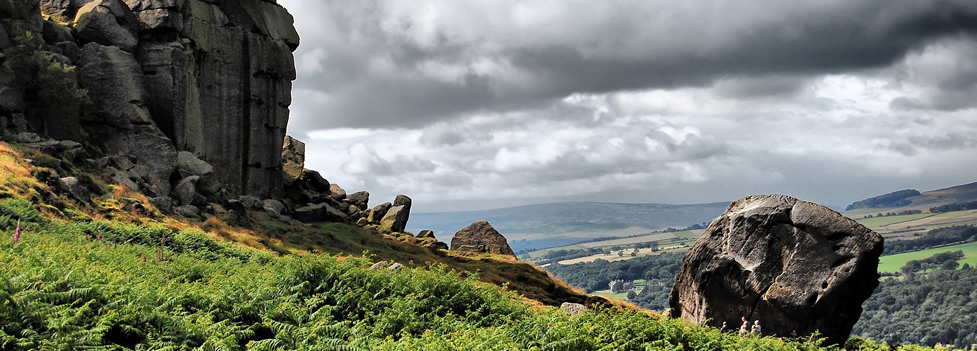 The Cow and Calf Rocks - Ilkley