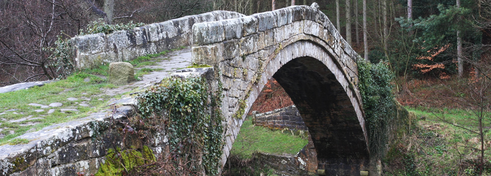 A stone bridge over a narrow river - North York Moors